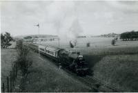 RCTS/SLS RAIL TOUR OF SCOTLAND 22nd June 1962<br><br> 42196 approaching Belston Junction.<br><br>[Jim Currie (Courtesy Stephenson Locomotive Society)&nbsp;22/06/1962]