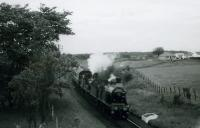 RCTS/SLS RAIL TOUR OF SCOTLAND 23rd June 1962<br><br> 123/49 approaching Newton Stewart from Stranraer.<br><br>[Jim Currie (Courtesy Stephenson Locomotive Society)&nbsp;23/06/1962]