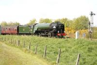 60163 Tornado about to leave Forres East for Aberdee with the Cathedrals Explorer.<br><br>[John Furnevel&nbsp;22/05/2012]