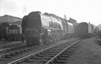 46251 <I>City of Nottingham</I> at Crewe North shed in the spring of 1963.<br><br>[K A Gray&nbsp;31/03/1963]