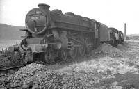 Stored locomotive line at Llandudno Junction in April 1963, with Black 5 no 44686 at the head of the queue.<br><br>[K A Gray&nbsp;01/04/1963]