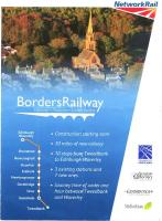 Cover of Network Rail information handout on the new Borders Railway, 2012. <br><br>[John Furnevel Collection&nbsp;//2012]