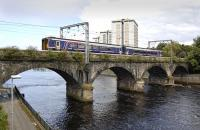 156 449 crossing the River Ayr on the approach to Ayr station with the 11.42 to Stranraer in July 2012. For the same scene in the 1970s [see image 4128].<br><br>[Bill Roberton&nbsp;19/07/2012]