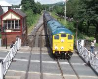 5081 with a train at Ramsbottom on Saturday 7th July during the East Lancs Diesel Gala.<br><br>[Colin Alexander&nbsp;07/07/2012]