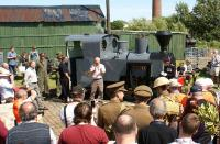 The renaming ceremony of Kerr Stuart 'Joffre' at the West Lancashire Light Railway on 22 July 2012 was undertaken by Steven Davies, Director of the NRM. He was wearing military uniform as he had earlier attended a ceremony at Preston Railway station where a plaque was unveiled to commemorate the 'Preston Pals'. (See news item).<br><br>[John McIntyre&nbsp;22/07/2012]
