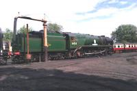 Newly restored Bulleid Pacific no 34053 <I>Sir Keith Park</I> at Bridgnorth shed in July 2012.<br><br>[John Robin&nbsp;07/07/2012]