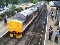 37518 with a train at Ramsbottom on Sunday 8th July during the East Lancs Railway diesel gala weekend.<br><br>[Colin Alexander&nbsp;08/07/2012]