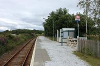Another picture of the tidy station at Duirinish, this time looking east towards Plockton. This is the first of nine surviving intermediate stations between Kyle and Dingwall and, like several others on the line, is a request stop where many trains pass through without calling. <br><br>[Mark Bartlett&nbsp;10/07/2012]