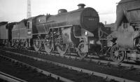 Horwich Mogul no 42839 stands on Crewe South shed in October 1961.<br><br>[K A Gray&nbsp;01/10/1961]