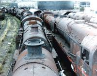 A boiler-top view over Barry scrapyard in July 1980.<br><br>[Colin Alexander&nbsp;/07/1980]