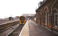 View over the platforms at Cleethorpes station in the summer of 1995.<br><br>[Ian Dinmore&nbsp;/08/1995]