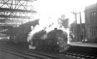 The 9.20am Crewe - Perth is about to be taken forward from Carlisle in November 1963 by 72008 <I>Clan MacLeod</I>. <br><br>[K A Gray&nbsp;16/11/1963]