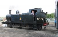 LMS 3F 0-6-0T 47472 was an ever present feature of Preston station for many years and known as <I>City of Preston</I> by local enthusiasts. 47472 was scrapped in 1967 but the Ribble Steam Railway brought classmate 47406 from the GCR for a Preston Guild event and recreated the local legend. The <I>Jinty</I> is seen here backing onto a rake of coaches in the RSR depot on 4 August 2012 prior to working the first train of the day.<br><br>[Mark Bartlett&nbsp;04/08/2012]
