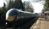 A Southeastern Class 395 heads south west through Sturry in Kent with a Ramsgate - St Pancras high speed service on 23 February 2012.<br><br>[John McIntyre&nbsp;23/02/2012]