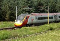 A southbound Pendolino at speed near Crawford on 25 July 2012.<br><br>[John Steven&nbsp;25/07/2012]