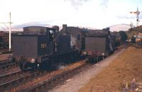 Ex Caledonian Railway 0-4-4 tanks at Connel Ferry station on 1st September 1960, with 55173 on the left.<br><br>[Frank Spaven Collection (Courtesy David Spaven)&nbsp;01/09/1960]