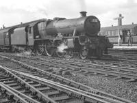 Holbeck Jubilee no 45658 <I>'Keyes'</I> takes a down excursion train away from Doncaster in September 1962. <br><br>[K A Gray&nbsp;08/09/1962]