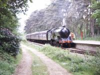 A train has arrived at Holt station on 3 June 1995 behind restored B12 4-6-0 no 8572.<br><br>[Ian Dinmore&nbsp;03/06/1995]