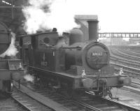 Class J72 0-6-0T no 69027 on station pilot duty at Newcastle Central station, thought to have been photographed in the early 1960s. The locomotive was officially withdrawn from Gateshead shed in October 1962.<br><br>[K A Gray&nbsp;//]
