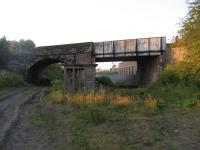 Looking north along the Waverley trackbed on 14 August in the direction of Newtongrange.  The bridge on the right spanned the lines serving the Lady Victoria Colliery, which can be seen in the distance.<br><br>[Mark Poustie&nbsp;14/08/2012]