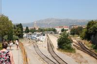 The terminus at Split on Croatia's Adriatic coast in August 2012. A headshunt runs behind the camera [see image 39957].<br><br>[Brian Taylor&nbsp;05/08/2012]