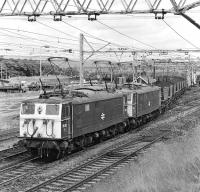 76010+76016 get underway with the very last 16.30 departure from Barnsley Junction, Penistone, to Fiddler's Ferry power station on 17 July 1981.<br><br>[Bill Jamieson&nbsp;17/07/1981]