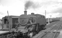 'Jeep' 2-6-4T No 54 photographed at Portadown station on 28 August 1965.<br><br>[K A Gray&nbsp;28/08/1965]