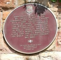 Plaque at Burntisland Station 2005.<br><br>[John Furnevel&nbsp;26/05/2005]