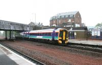 Northbound arrival at Larbert in May 2005.<br><br>[John Furnevel&nbsp;25/05/2005]