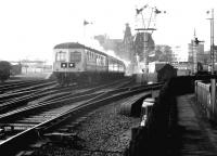 DMU leaving Ayr for Glasgow Central in September 1980.<br><br>[John Furnevel&nbsp;27/09/1980]