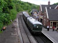 Train at Kingsley and Froghall Station.<br><br>[Neville Davies&nbsp;//]