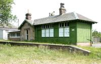 Platform and former station building at Chirnside in 2005.<br><br>[John Furnevel&nbsp;20/06/2005]