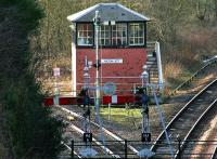 The signal box at Hilton Junction in February 2005. <br><br>[John Furnevel&nbsp;12/02/2005]