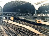 Brush Type 4 no D1705 leaves Liverpool Street for Norwich in June 1969. BTH Type 1 no D8229 is the station pilot.<br><br>[John Furnevel&nbsp;20/06/1969]