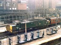 D6725 about to depart with a train from Liverpool Street station in June 1969.<br><br>[John Furnevel&nbsp;20/06/1969]