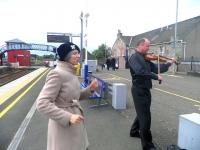 Tayside Biodiversity festival, May 2010 - platform scene at Carnoustie.<br><br>[John Yellowlees&nbsp;/05/2010]