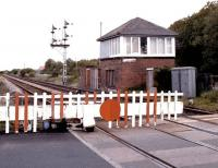 View east from Winning Junction level crossing on the Blyth & Tyne in May 2004.<br><br>[John Furnevel&nbsp;25/05/2004]
