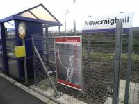 A wave from Bill Douglas to passengers at Newcraighall on 14 April 2012 [see news item].<br><br>[John Yellowlees&nbsp;14/04/2012]