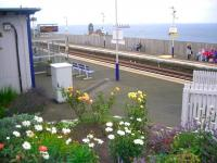 Looking across the platforms at Kinghorn station in September 2012 - see news item.<br><br>[John Yellowlees&nbsp;09/09/2012]