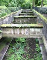 Looking down at the platforms of the Glasgow Central Railway station at Botanic Gardens in July 2005 - 66 years after the station closed.<br><br>[John Furnevel&nbsp;10/07/2005]