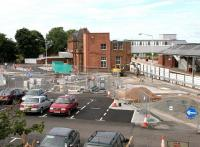 Civil engineering work in progress at Berwick in July 2005 in connection with the provision of extended car parking facilities to resolve the current shortages. In addition a new turning circle is being constructed in front of the station. [See image 41156]<br><br>[John Furnevel&nbsp;05/07/2005]