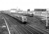 A freight passing the site of Stirling South shed on 8 March 1970.<br><br>[John Furnevel&nbsp;08/03/1970]