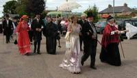 Selection of people in Victorian Dress.<br><br>[Phil Downie / First ScotRail&nbsp;9/7/2005]