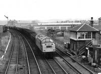 358 takes northbound coal empties past Stirling South box in March 1970.<br><br>[John Furnevel&nbsp;08/03/1970]