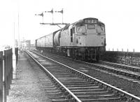 A Type 2 carries out some shunting operations at Stranraer Harbour in October 1972.<br><br>[John Furnevel&nbsp;13/10/1972]