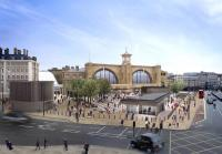 The proposed public square in front of Kings Cross station (see news item).<br><br>[Network Rail&nbsp;/01/2012]