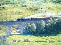 K1 No 62005 <i>Lord of the Isles</i> crosses Glenfinnan Viaduct with <i>The Jacobite</i> on 28 July 2005.<br><br>[John Gray&nbsp;28/07/2005]