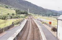 Helmsdale. View from the footbridge looking north west. The engine shed was on the left and the turntable pit is visible. 1994.<br><br>[John Gray&nbsp;//]