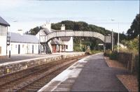 Helmsdale. View of the main station buildings. The signal box was out of use by this date. 1994.<br><br>[John Gray&nbsp;//]