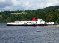 PS <I>Maid Of The Loch</I> at Balloch on 18 August 2012 operating as a tea room while undergoing restoration and repairs.<br><br>[John Steven&nbsp;18/08/2012]